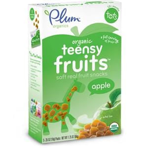 Plum Organics Tots Teensy Fruits, Apple, Organic - 8 x  1.75 oz