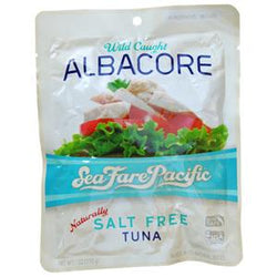 Sea Fare Pacific Albacore Tuna, Salt Free - 6 ozs.