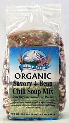 Azure Farm Savory 4-Bean Chili Mix Organic - 4 x 29.7 ozs.
