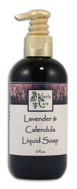 Kettle Care Lavender & Calendula Facial Soap Liquid with Pump - 8 ozs.