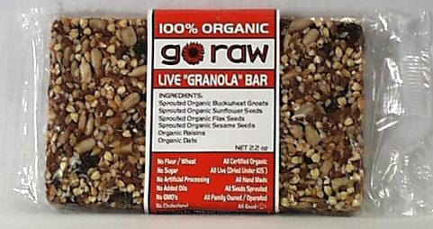 Go Raw Live Granola Bar - 3 x 2 ozs.