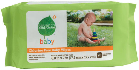 Seventh Generation Baby Wipes Travel Refill - 70 ct.