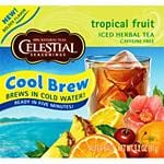 Celestial Seasonings Cool Brew Teas Tropical Fruit 40 tea bags