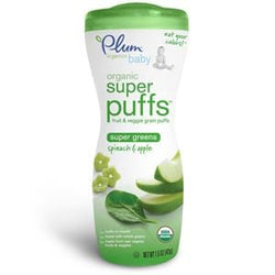 Plum Organics Super Puffs, Green-Spinach & Apple, Organic - 8 x 1.5 oz
