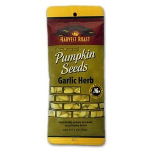 Harvest Roast Pumpkin Seeds, Garlic & Herb - 12 x 2 ozs.