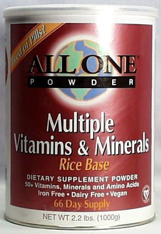 All-One Rice-Base Vitamin/Mineral Powder - 2.2 lbs.