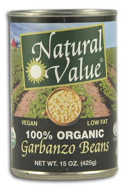 Natural Value Garbanzo Beans Organic - 12 x 15 ozs.