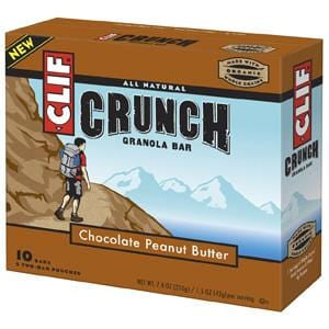 Clif Bar Chocolate Peanut Butter Crunch Granola Bars - 12 x 7.4 ozs.