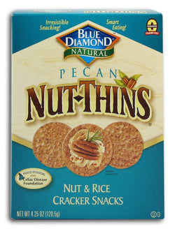 Blue Diamond Pecan Nut Thins - 3 x 4.25 ozs.