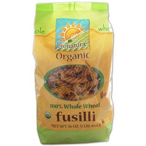 Bionaturae Fusilli 100% Whole Wheat Organic - 12 x 16 ozs.