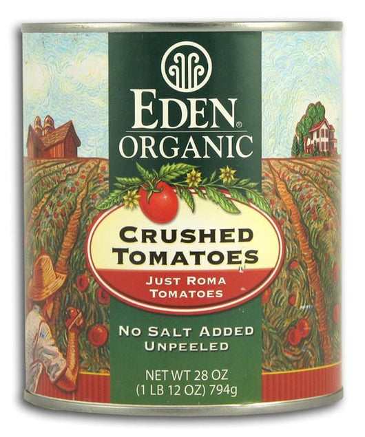 Eden Foods Crushed TomatoesOrganic in Amber Glass - 25 ozs.