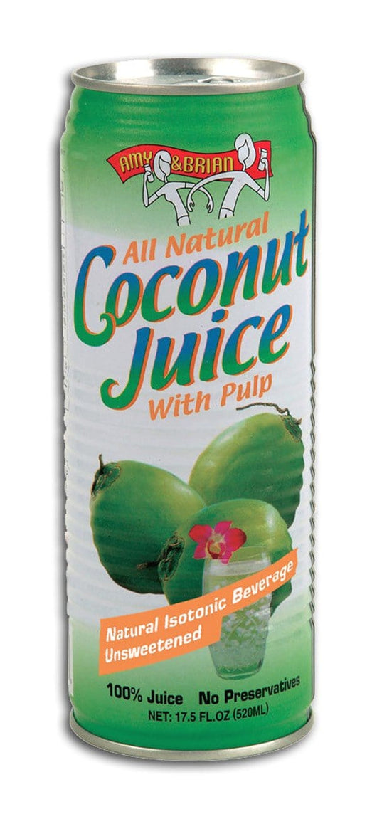 Amy & Brian Young Coconut Juice with Pulp - 12 x 17.5 ozs.
