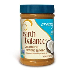 Earth Balance Coconut & Peanut Spread, Creamy - 12 x 16 oz