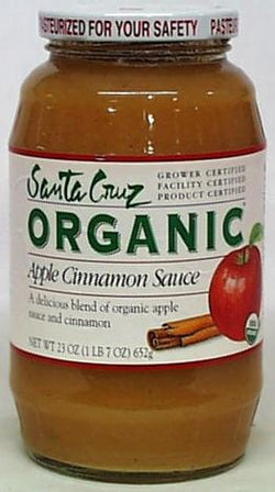 Santa Cruz Apple Cinnamon Sauce Organic - 12 x 23 ozs.