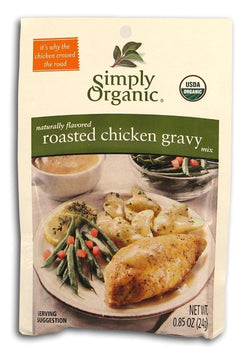 Simply Organic Roasted Chicken Gravy Mix Organic - 3 x 0.85 ozs.
