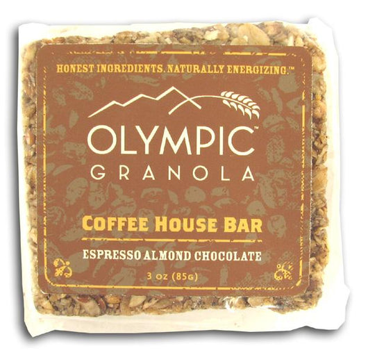 Olympic Granola Espresso Almond Chocolate Coffee House Bar - 3 x 3 ozs.