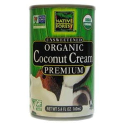 Native Forest Coconut Cream, Unsweetened, Organic - 12 x 5.4 oz