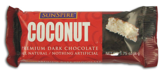 Sunspire Coconut Bar Dark Chocolate - 24 x 1.4 ozs.