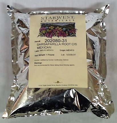 Starwest Sarsaparilla Root Mexican Cut & Sifted - 1 lb.