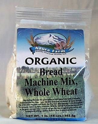Azure Farm Whole Wheat Bread Machine Mix Organic - 8 x 1 lb.