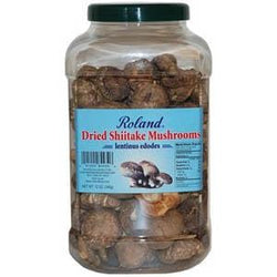 Roland Foods Mushrooms, Shiitake, Whole, Dried - 12 ozs.