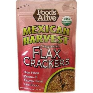 Foods Alive Mexican Flax Crackers Organic - 6 x 4 ozs.
