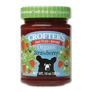 Crofter's Strawberry Just Fruit Spread Organic - 12 x 10 ozs.