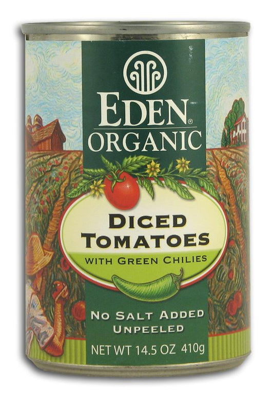 Eden Foods Diced Tomatoes with Green Chilies Organic - 14.5 ozs.