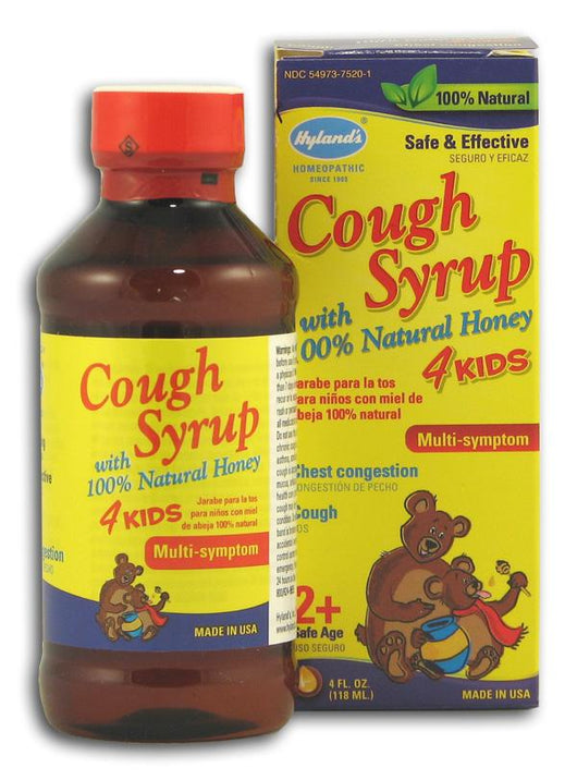 Hyland's Cough Syrup with Honey 4 Kids - 4 ozs.