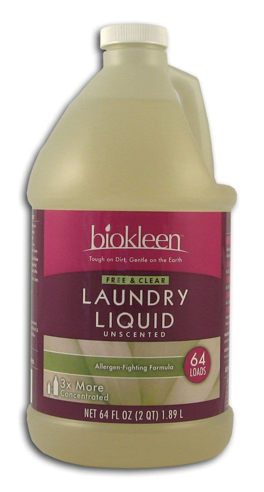Biokleen Free & Clear Laundry Liquid - 64 ozs.