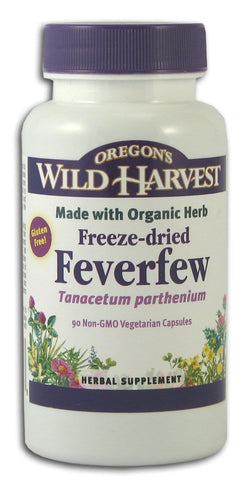 Oregon's Wild Harvest Feverfew Freeze-Dried Organic - 90 veg caps