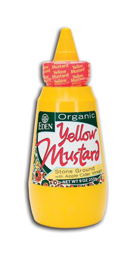 Eden Foods Yellow Mustard Squeezable Organic - 9 ozs.