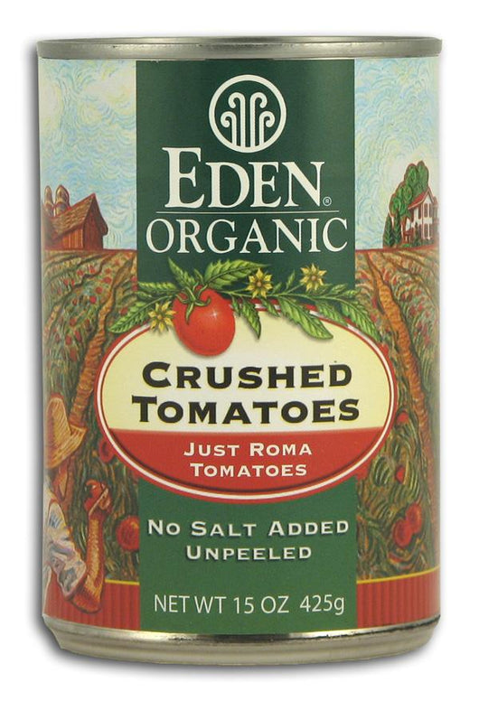 Eden Foods Crushed TomatoesOrganic in Amber Glass - 12 x 14 ozs.