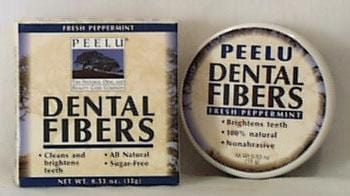 Peelu Fibers Peppermint Tooth Powder - 0.53 oz.
