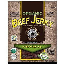 Golden Valley Natural Beef Jerky, Original, Organic - 3 ozs.