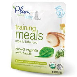 Plum Organics Stage 3 Training Meals Harvest Vegetable with Turkey, Organic - 4 ozs