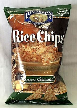 Lundberg Rice Chips Sesame & Seaweed Gluten-Free - 3 x 6 ozs.