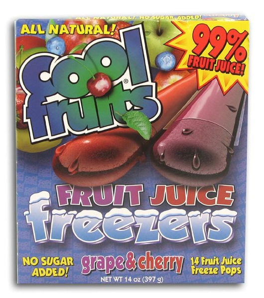 Cool Fruits Fruit Juice Freezers - 24 x 14 ozs.