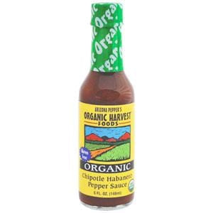 Organic Harvest Foods Chipotle Habanero Pepper Sauce, Organic, Gluten Free - 12 x 5 ozs.