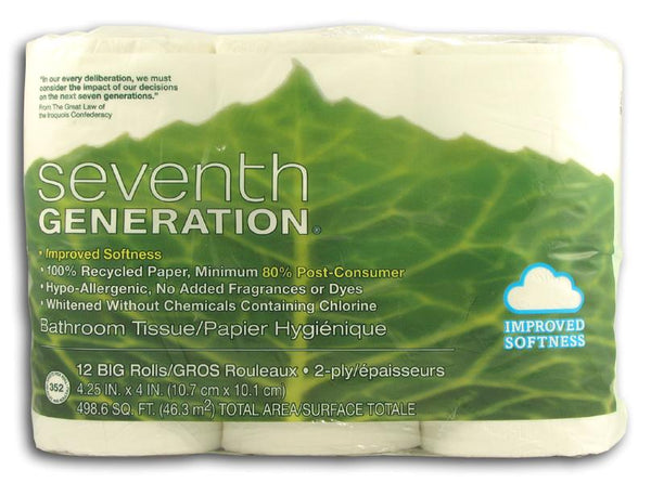 Seventh Generation Bathroom Tissue (12 rolls/pack) - 4 x 1 pk.