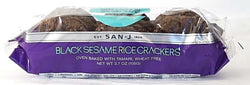 San-J Black Sesame Rice Crackers Wheat-free - 3.5 ozs.