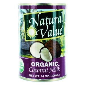 Natural Value Coconut Milk, Organic - 12 x 14 ozs.