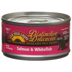 Lick Your Chops Cat Food, Canned, Salmon & White Fish - 3 ozs.