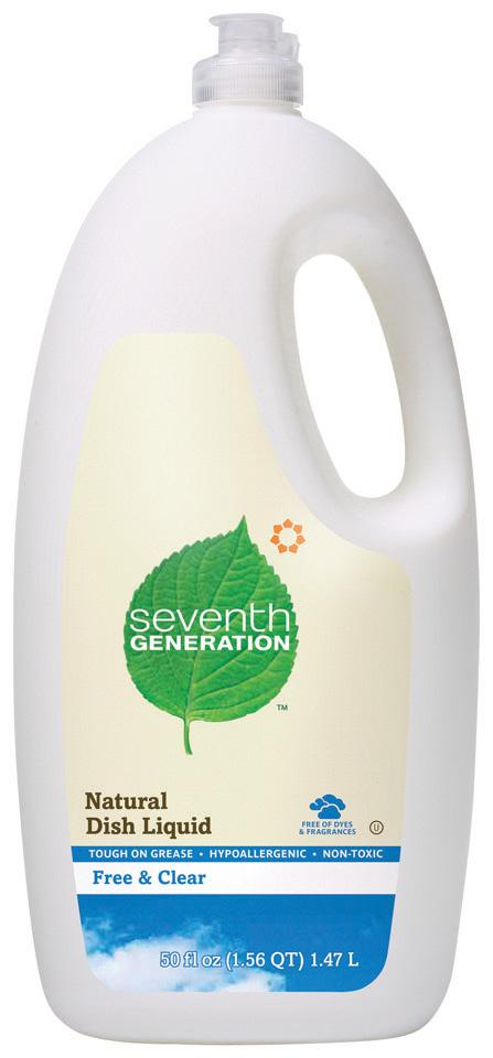 Seventh Generation Dish Liquid Free & Clear - 6 x 50 ozs.