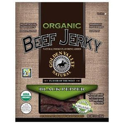 Golden Valley Natural Beef Jerky, Black Pepper, Organic - 3 ozs.