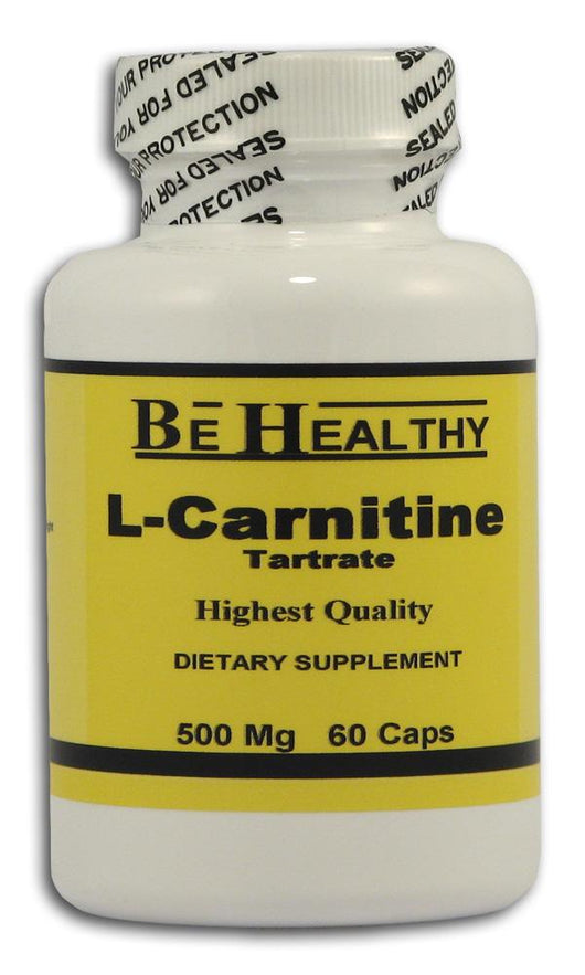 Be Healthy L-Carnitine Tartrate 500 mg. - 60 caps