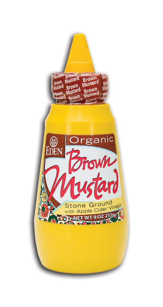 Eden Foods Brown Mustard Squeezable Organic - 9 ozs.