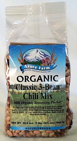 Azure Farm Classic 3-Bean Chili Mix Organic - 4 x 30.5 ozs.