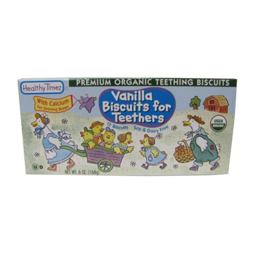 Healthy Times Vanilla Teeth Biscuit Organic - 7 ozs.