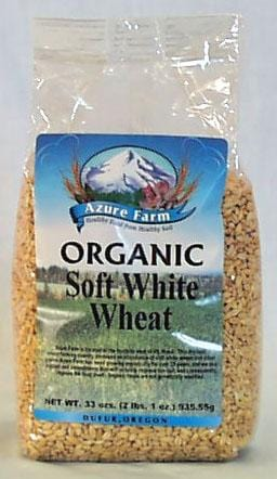 Azure Farm Wheat Berries Soft White Organic - 4 x 33 ozs.